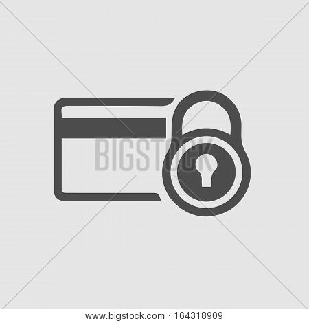 Security credit card simple isolated vector icon eps 10.
