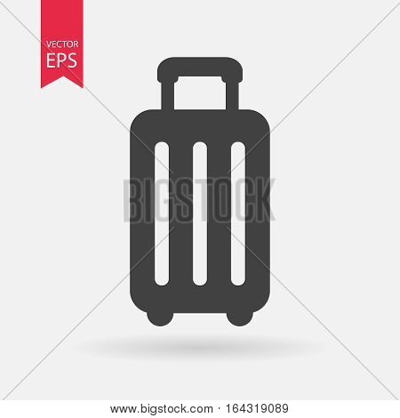 Travel bag airport icon vector. Baggage, luggage, suitcase sign Isolated on white background. Traveling concept. Trendy Flat style for graphic design, logo, Web, social media, UI, mobile app