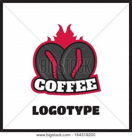 Vintage coffee vector label and logo. Cappuccino and espresso logo