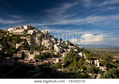 View of Gordes - one of the most beautiful villages in France