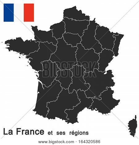 european country france and all regions in details