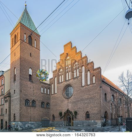 Maria's Church is a parish Church of Denmark located in the heart of the Vesterbro district of Copenhagen Denmark.