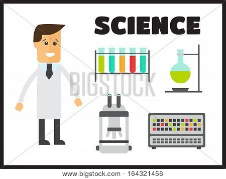 Chemistry infographics template showing various tests vector