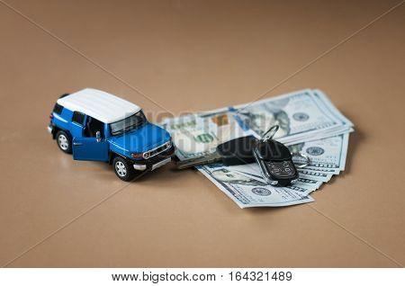 investment in the purchase of cars consept of loan car.