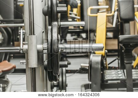 Dumbbell Or Barbell In Gym