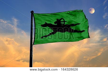 Avar Empire Flag, Avar Empire, Flag Design and Presentation