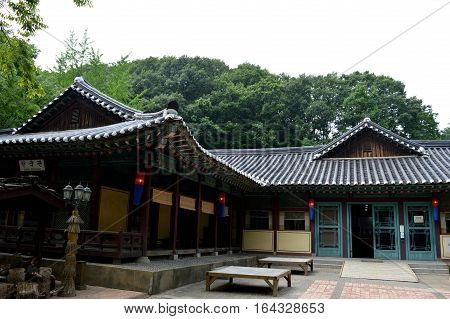 korean village. On the picture are represented korean village.