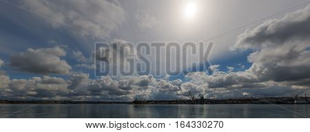 panorama of the bay and sky in Sevastopol