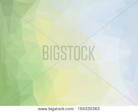 Abstract polygonal background in green, yellow, blue shades. There is a variant in the vector.