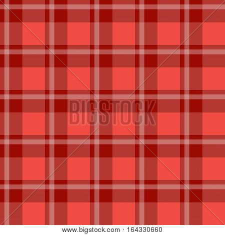 Sample pretty seamless bright red checkered fabric.
