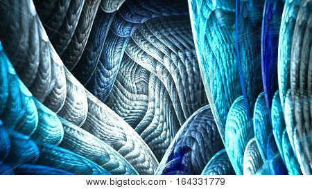 Entrance to dark cave. 3D surreal illustration. Sacred geometry. Mysterious psychedelic relaxation pattern. Fractal abstract texture. Digital artwork graphic astrology magic