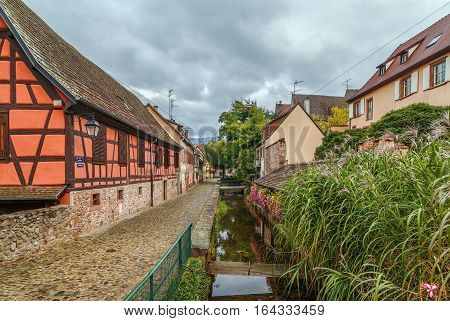 View of channel in Kaysersberg Alsace France