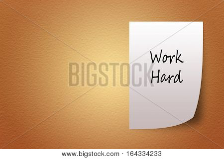 White Paper Bearing The Words Brown Textured Background