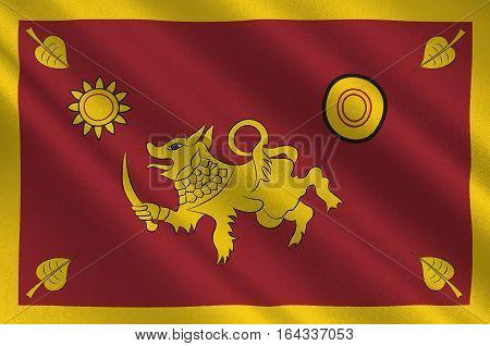 Flag of Southern Province of Sri Lanka. 3d illustration