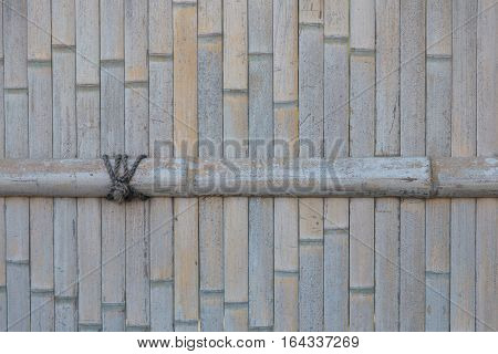 Dried Bamboo fence background bamboo mat background