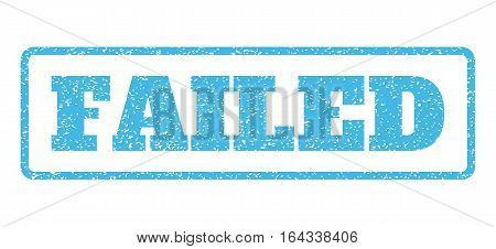 Light Blue rubber seal stamp with Failed text. Vector caption inside rounded rectangular shape. Grunge design and scratched texture for watermark labels. Horisontal emblem on a white background.
