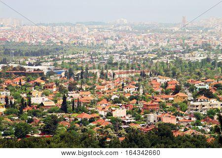 Modern part of Antalya (bird's eye view), Turkey