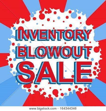Red And Blue Sale Poster With Inventory Blowout Sale Text. Advertising Banner