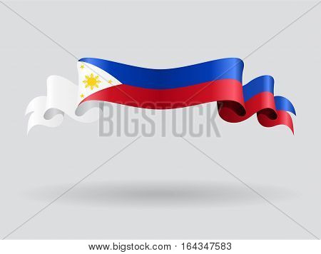 Philippines flag wavy abstract background. Vector illustration.