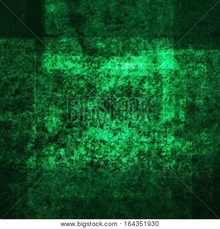 abstract colored scratched grunge background - green and teal