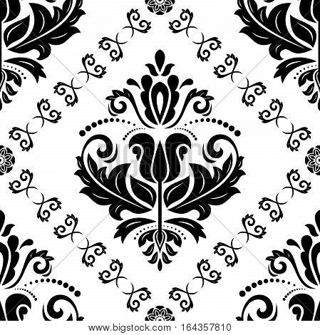 Oriental vector classic pattern. Seamless abstract background with repeating elements. Orient background
