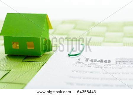 Paper House And Tax Form