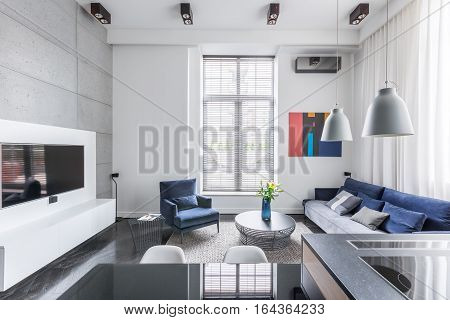 White Tv Living Room