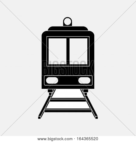 icon train railway train travel sticker label fully editable vector image