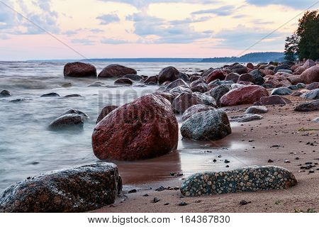 The Baltic sea is heavily embedded in the land of the continent so it belongs to the type of inland seas