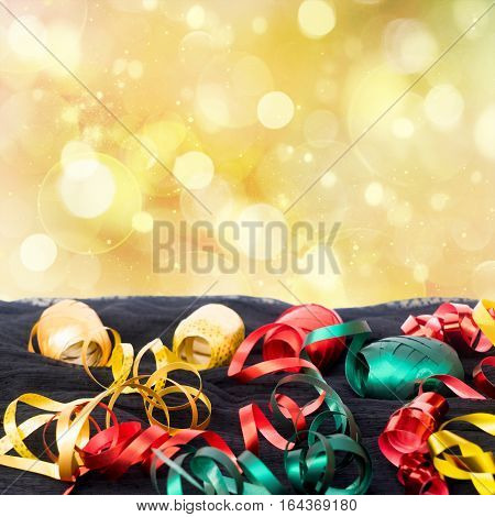 Carnaval festive decorations isolated borer over white background with copy space