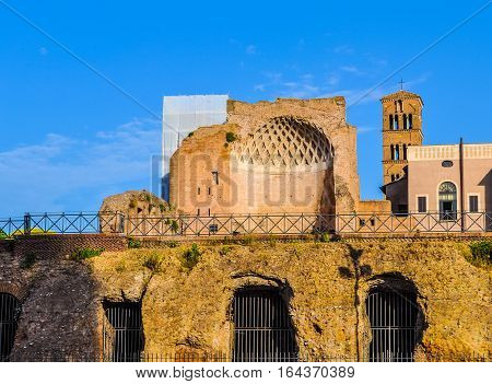 Hdr Temple Of Venus In Rome