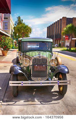 Arcadia, FL, USA - July 13: Ford Model A in downtown Arcadia Florida