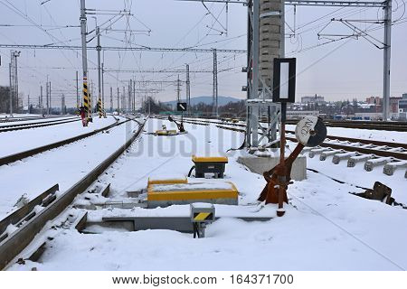 A new railway siding on track after winter reconsruction