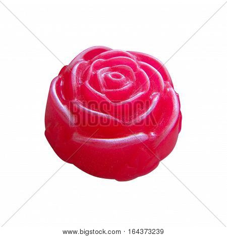 Natural handmade pink soap, in the form of roses.