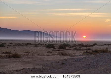 Sunrise Over The Namib Desert, Roadtrip In The Wonderful Namib Naukluft National Park, Travel Destin
