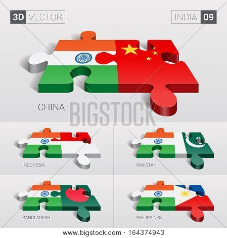 India puzzle part joint with China, Indonesia, Pakistan, Bangladesh, Philippines.