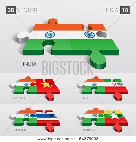 India puzzle part joint with India, Vietnam, Iran, Thailand, Myanmar.