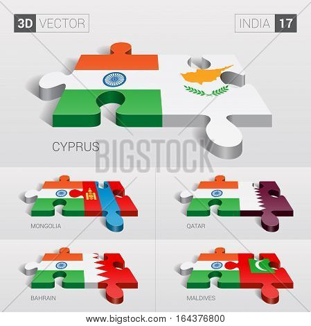 India puzzle part joint with Cyprus, Mongolia, Qatar, Bahrain, Maldives.