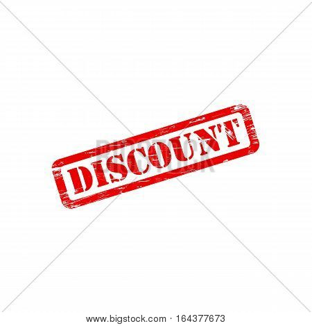 DISCOUNT stamp vector grunge design with scratches. Color is easily changed.