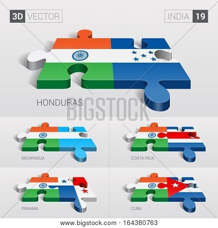 India puzzle part joint with Honduras, Nicaragua, Costa Rica, Panama, Cuba.