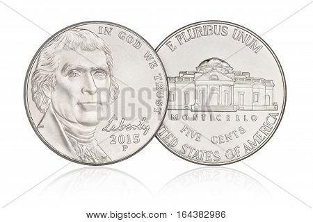 Five Cents Nickel Coin