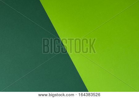 Green and greenery colored paper background. Copy space for text or image
