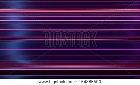 Abstract reflective shiny plastic three-dimensional shape. Illuminated red and blue light 3d rendering