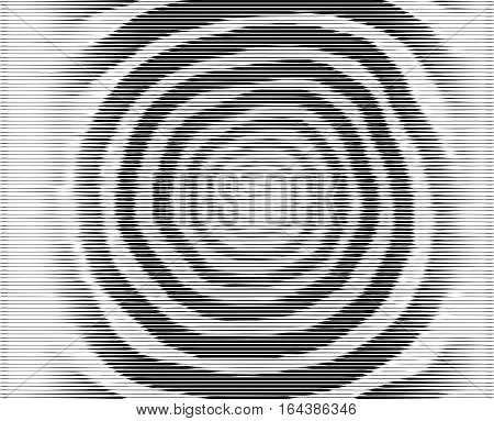 Vector Spiral. No Gradient. Texture.concentric Lines, Circular, Rotating Background. Volute. Pattern