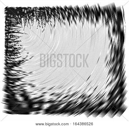 Vector Spiral Frame. No Gradient. Texture.concentric Lines, Circular, Rotating Background. Volute. P