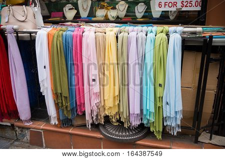 colorful scarves for sale in new york