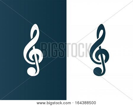 Clef Music symbol Logo icon business - isolated vector illustration