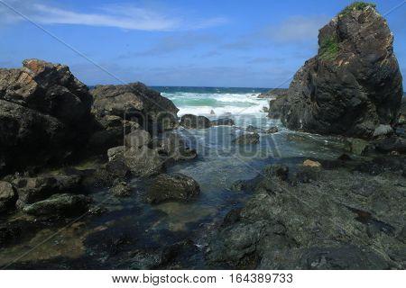 Some of Flynn's Beach Rocks, NSW, Australia