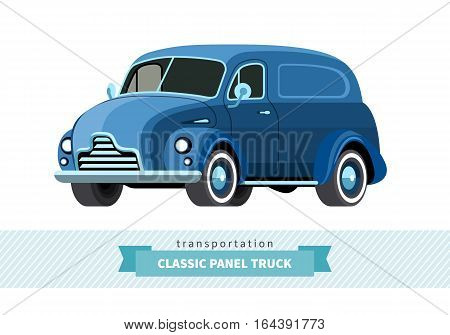 Classic Panel Truck Front Side View
