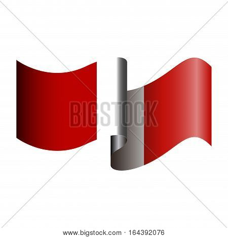 Isolated Peruvian Flag